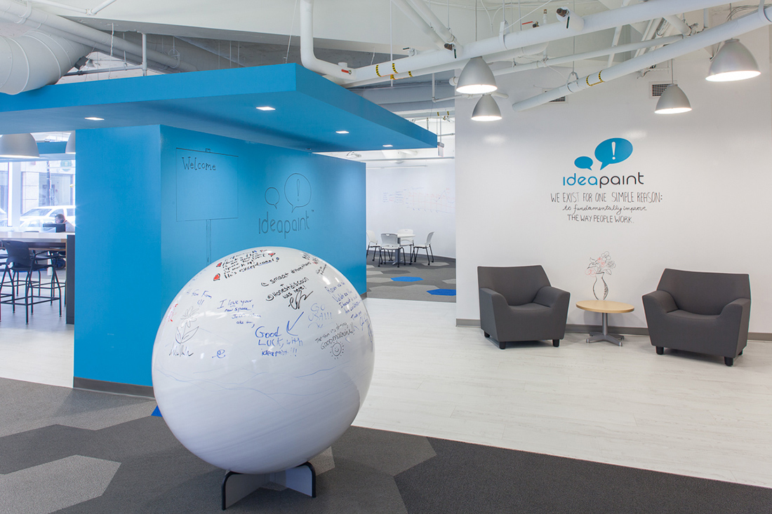 An Inside Look at IdeaPaint's Boston Office