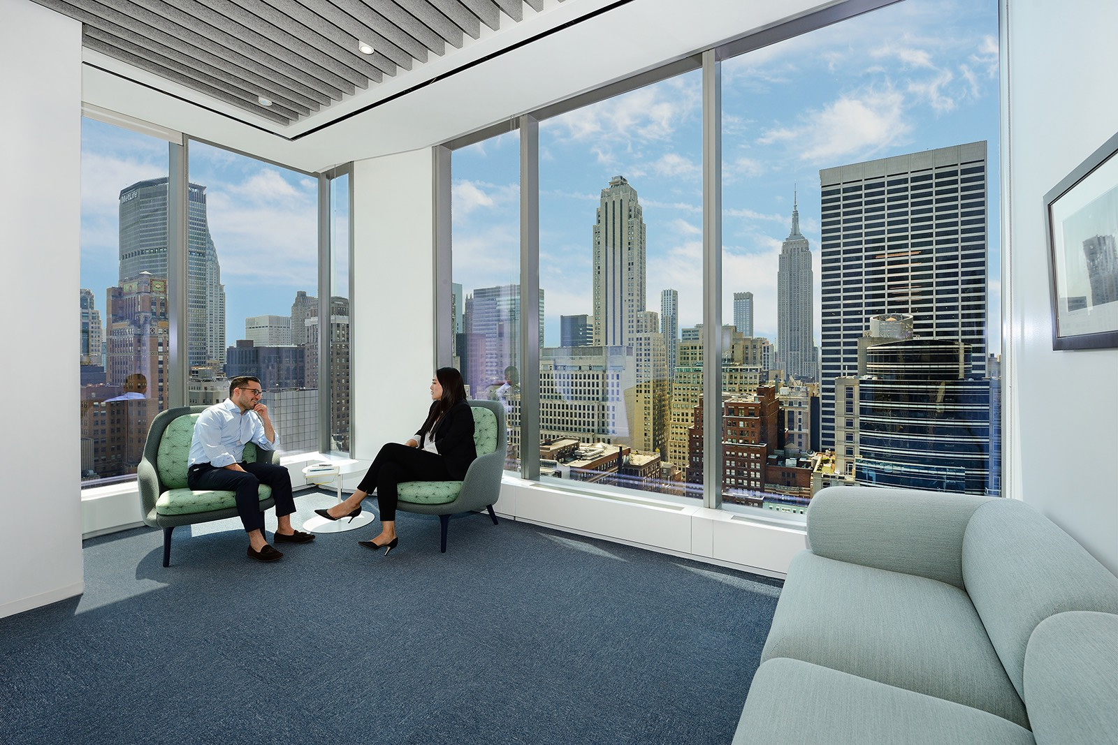 A tour of nixon peabody s modern new york city office officelovin 39 Interior design firms in new york city