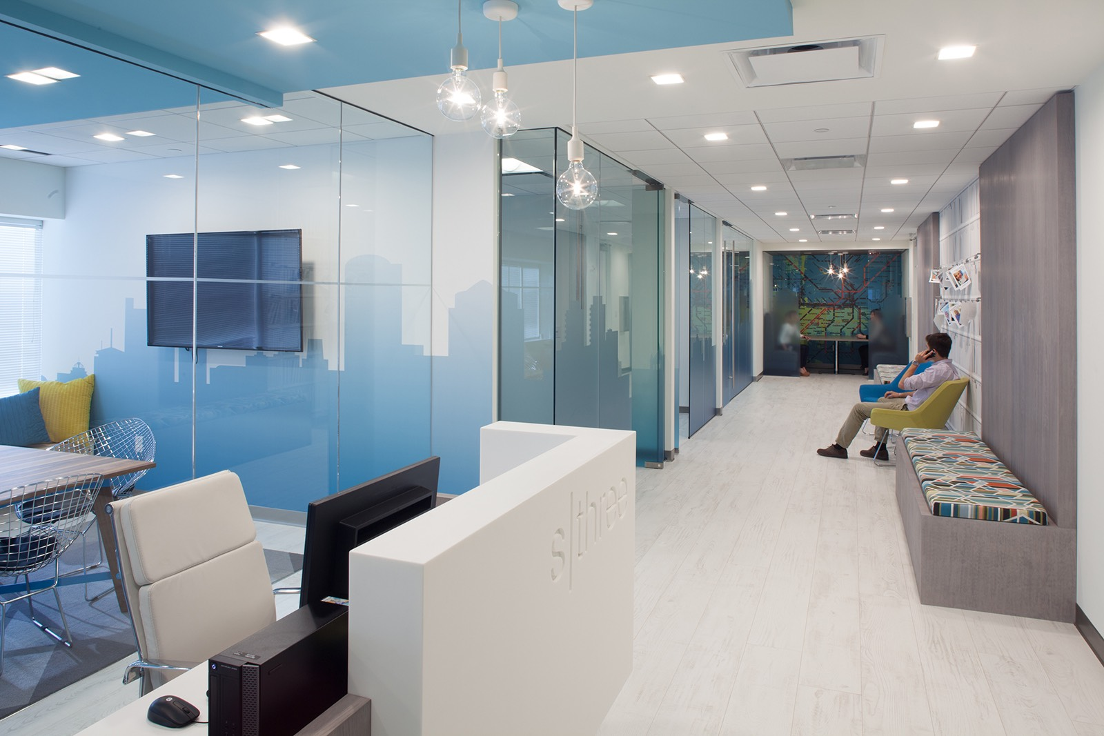 Inside sthree s modern boston office officelovin 39 for Small corporate office design