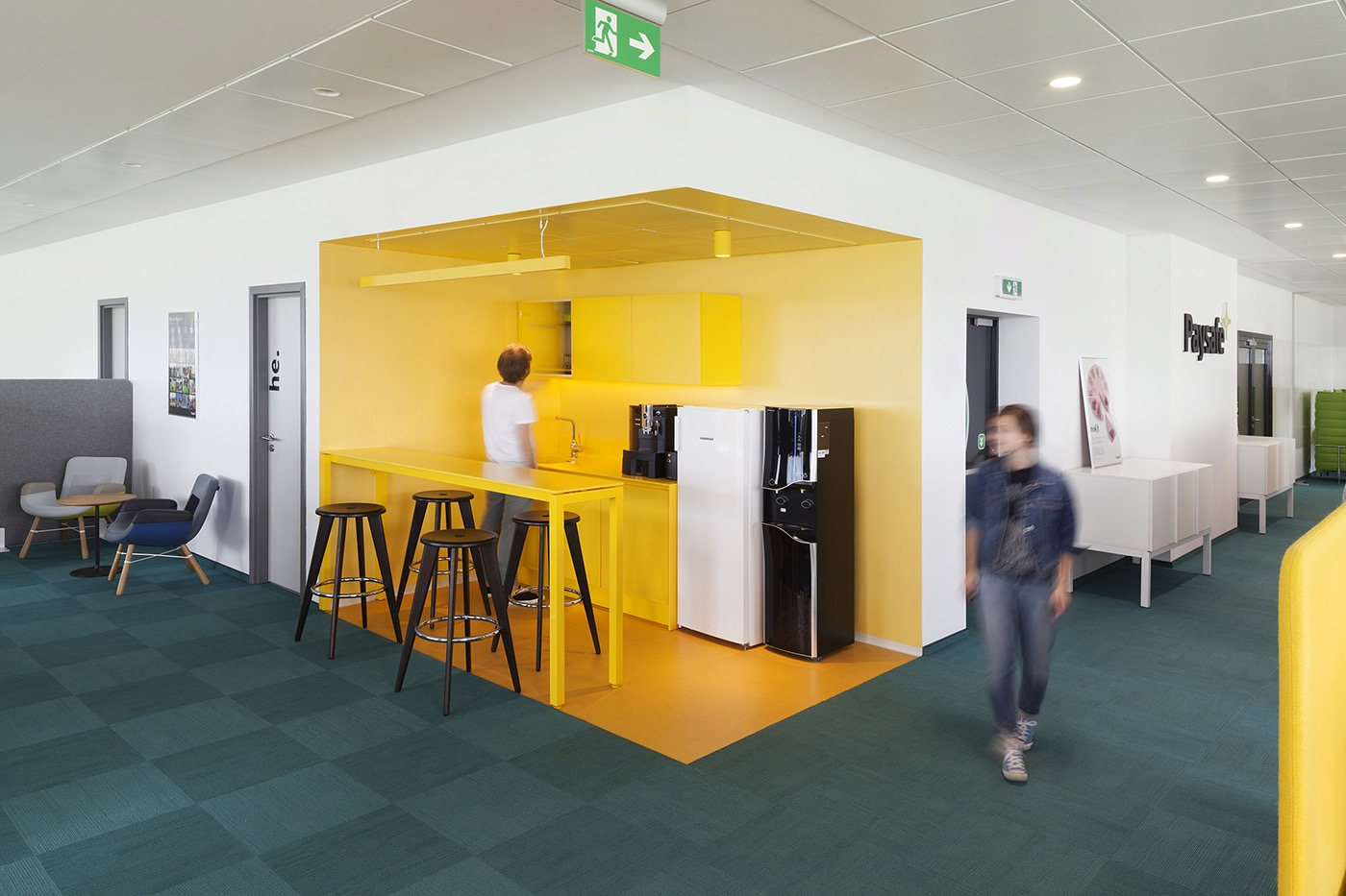 A peek inside paysafe s brand new office in sofia for Office new design
