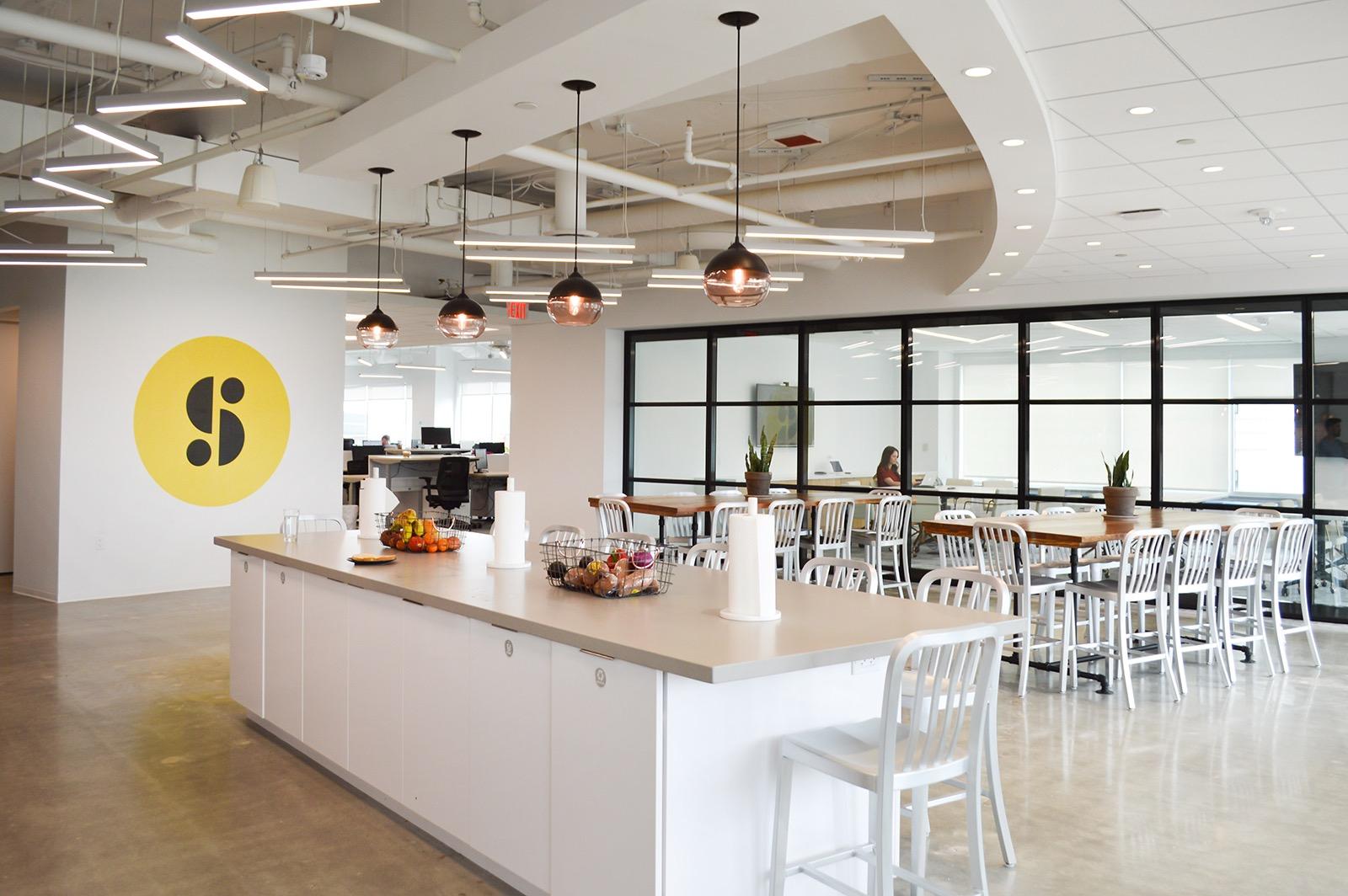 beats by dre office. entrance kitchen breakout space beats by dre office
