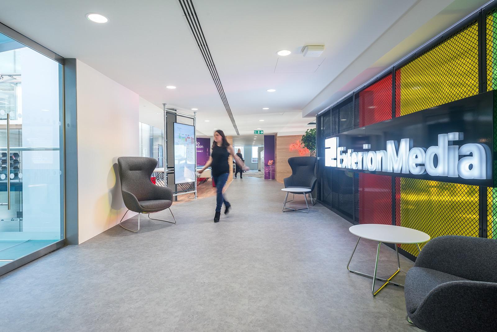 Inside exterion media s cool new london office officelovin 39 for Office design principles
