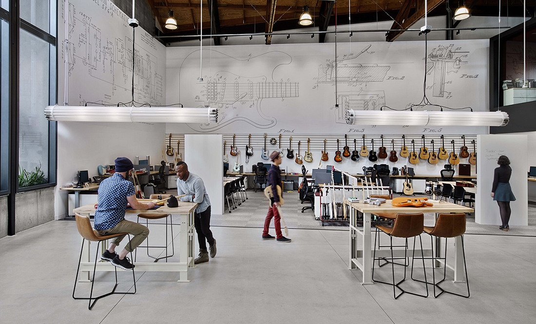 A Tour of Fender's Sleek New Los Angeles Office