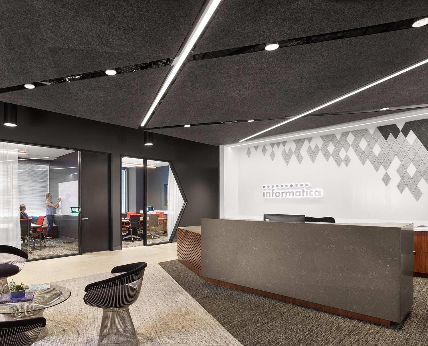 Inside the new offices of informatica in austin officelovin 39 for Professional office interior design