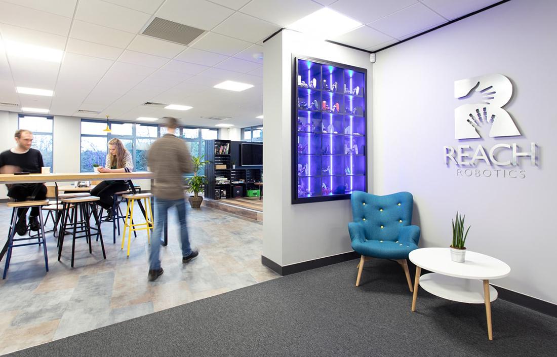 Inside reach robotics new bristol office officelovin 39 for Tech company office design