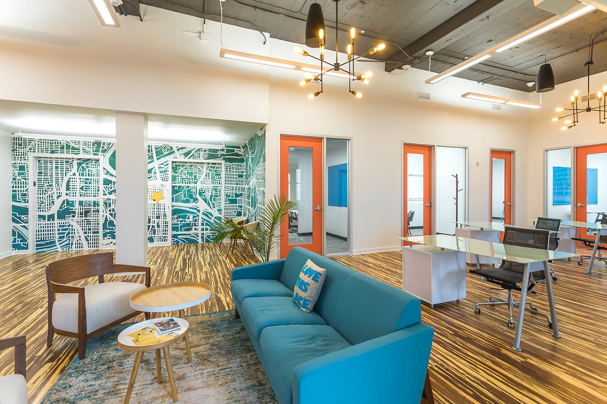 Inside Level Office's Kansas City Coworking Space