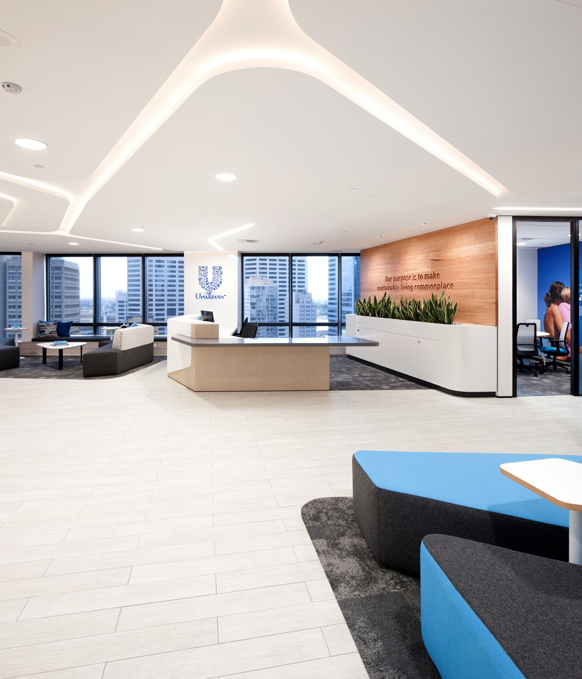 unilever office. Lobby Unilever Office