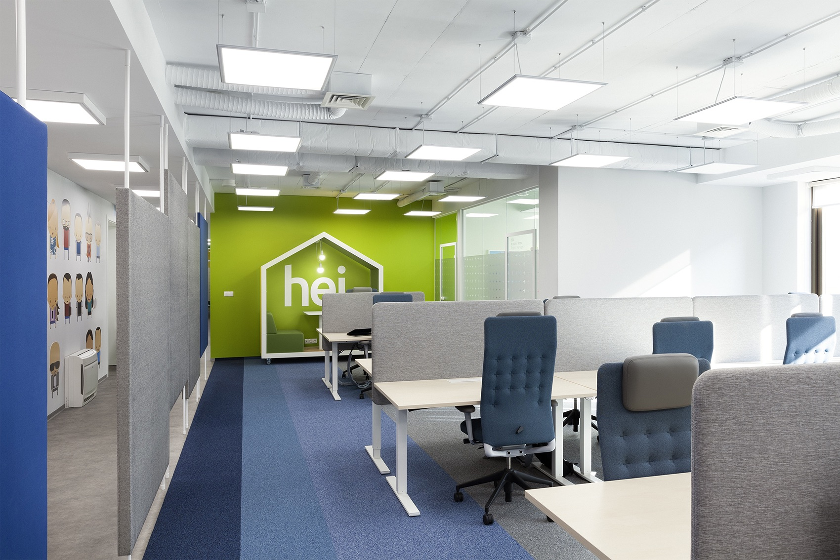 A look inside accedia s modern new sofia office officelovin 39 - Interior design office space ...