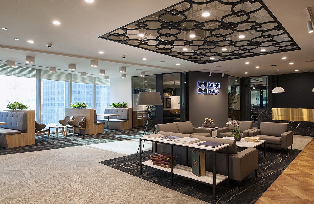 A Look Inside Knight Frank's Modern Singapore Office