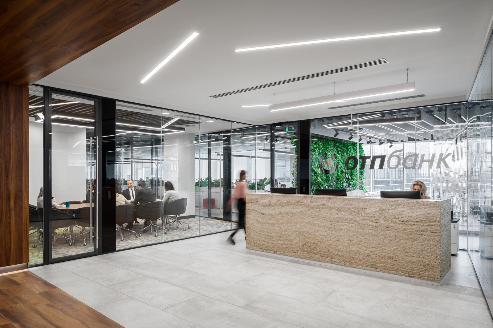 A Tour of OTP Bank's Modern Moscow Office
