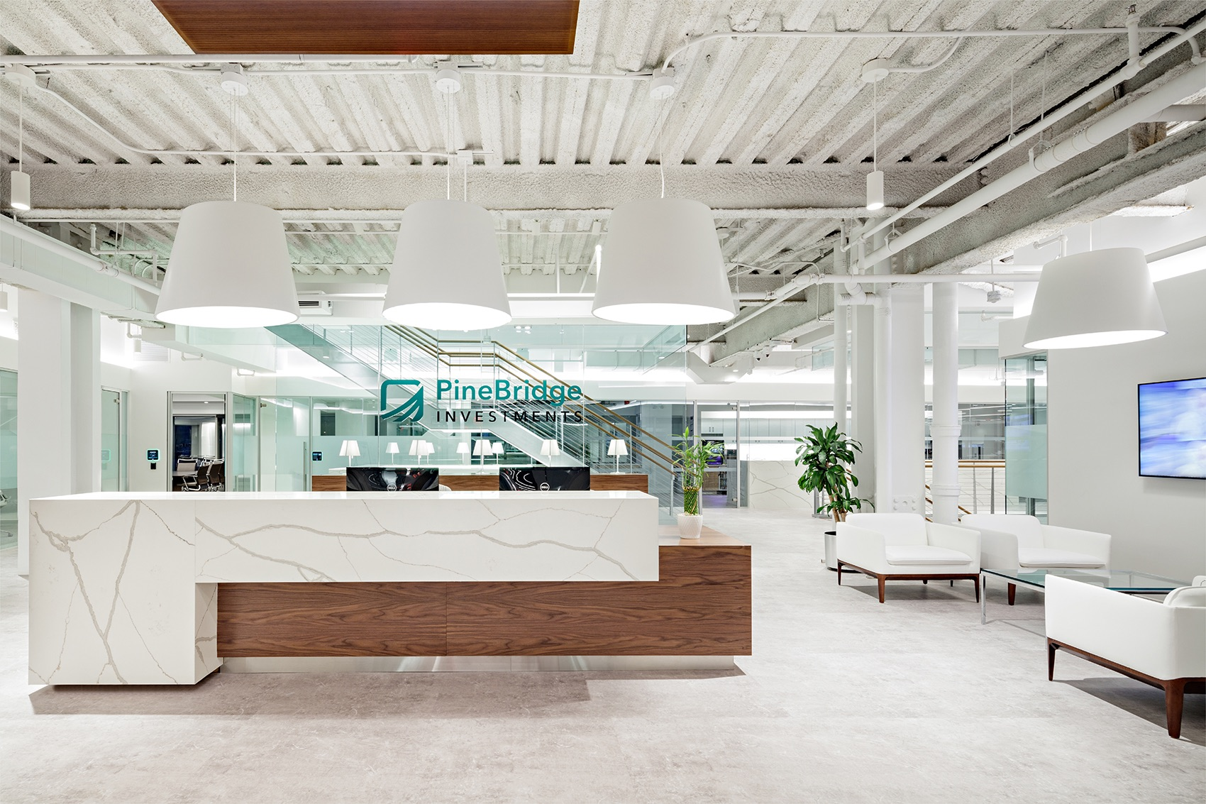 A Tour of PineBridge Investments' Modern New York City Office