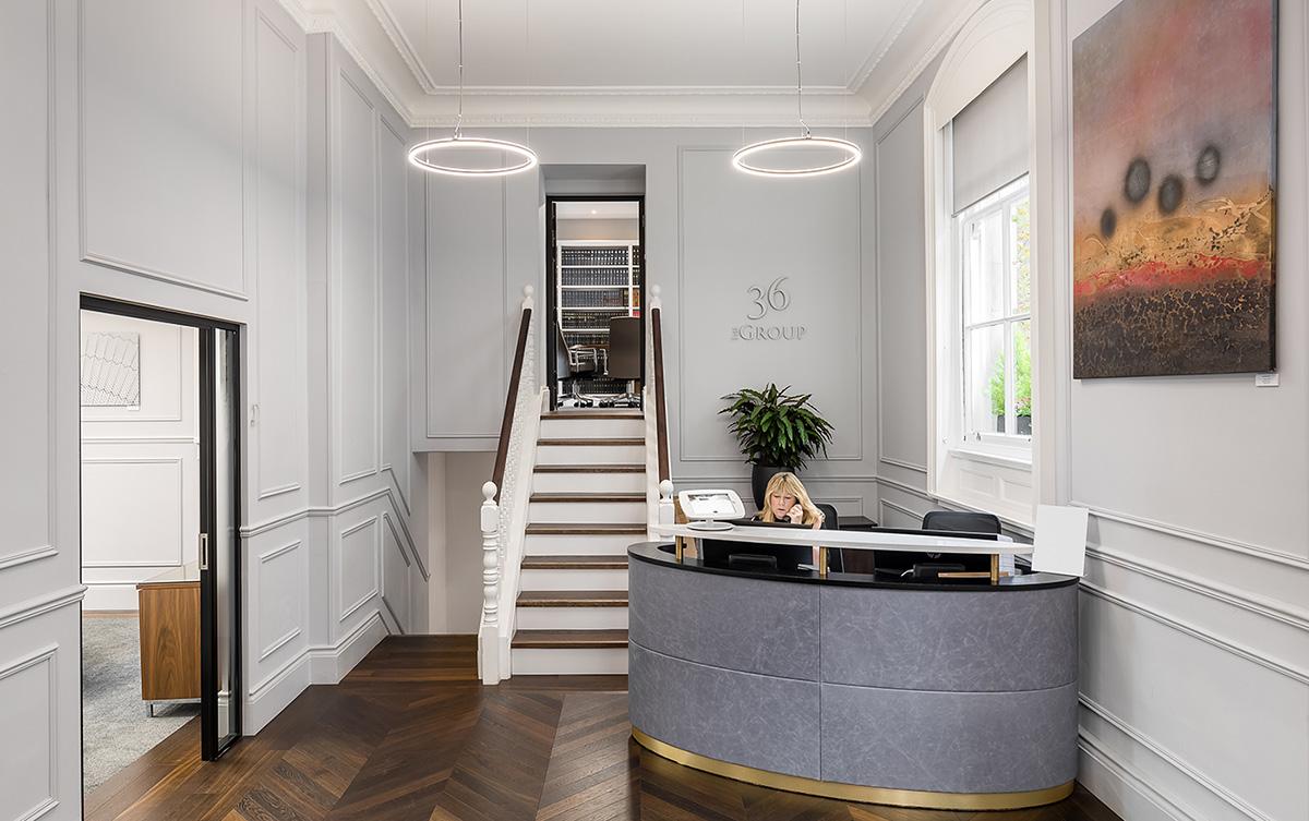 A Look Inside 36 Group's Elegant London Office