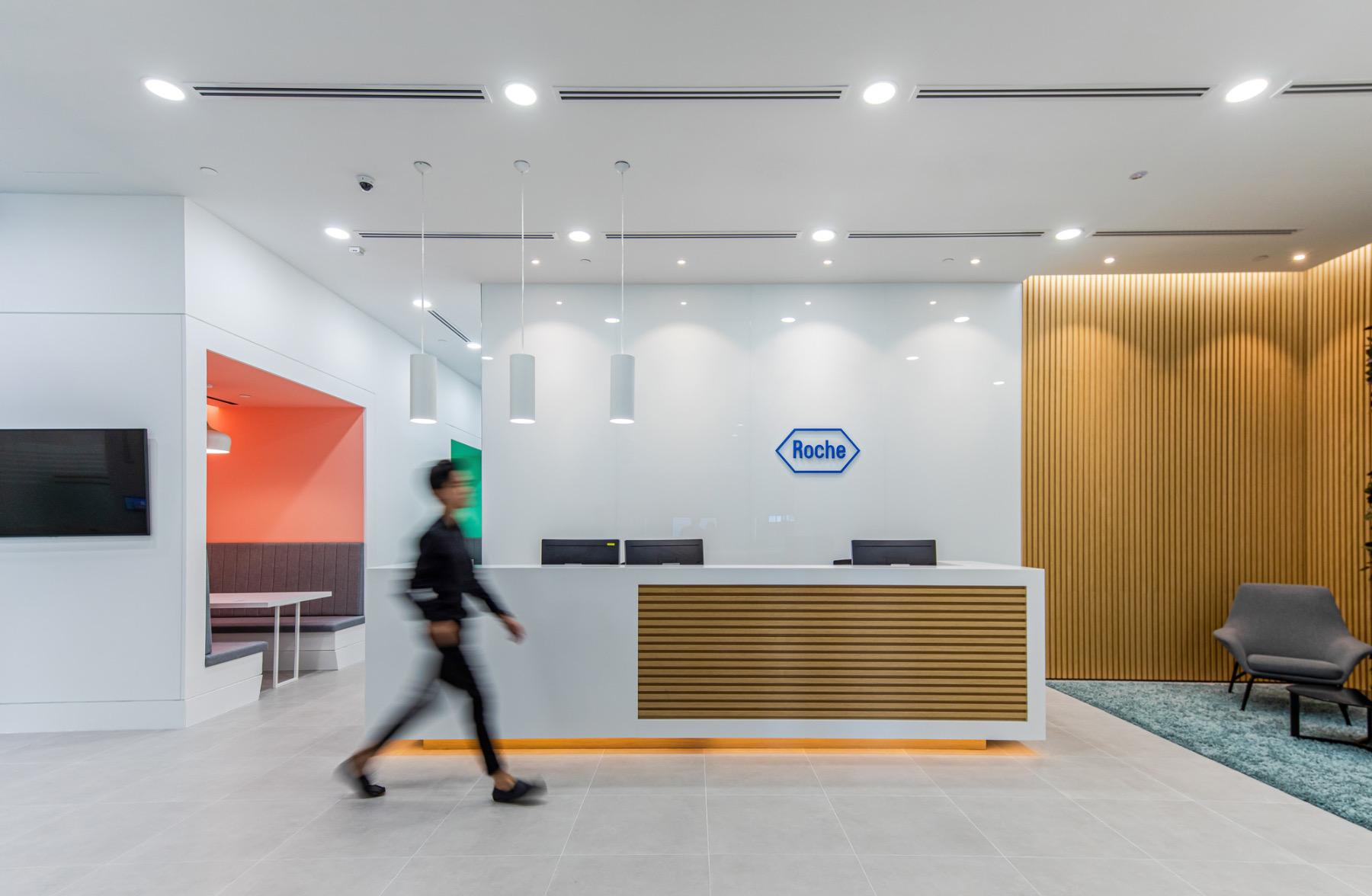 A Look Inside Roche's Minimalist Singapore Office