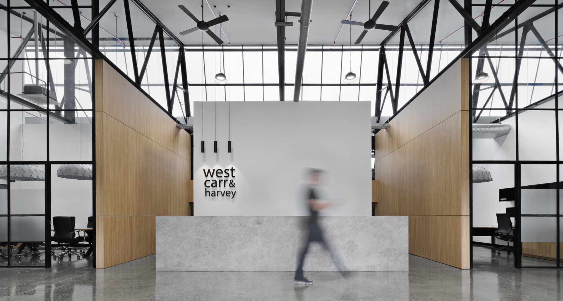 Inside West Carr & Harvey's Geelong Office